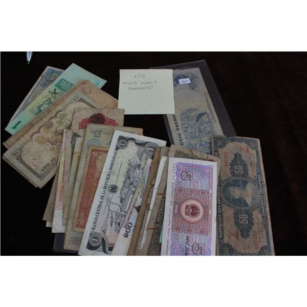 Collection of World Notes (50)