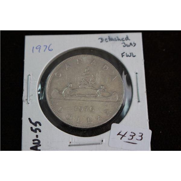 Canada One Dollar Coin - 1976, EF