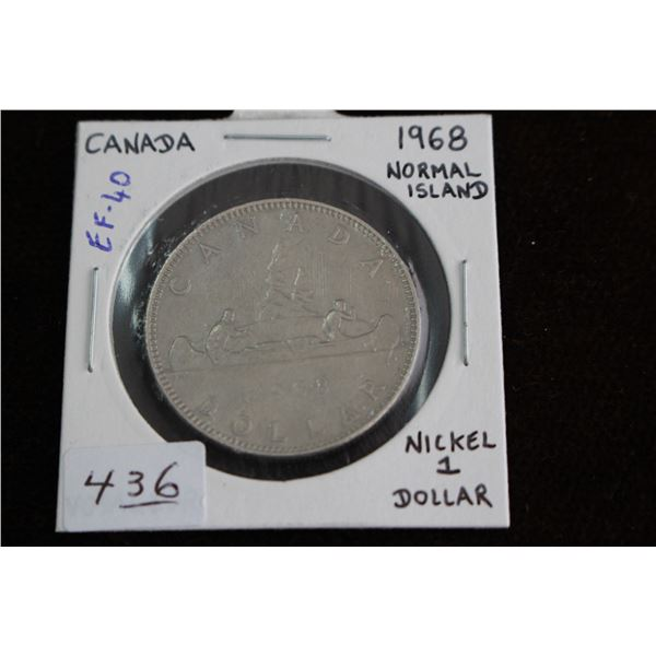 Canada One Dollar Coin - 1968, EF40