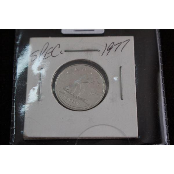 Canada Ten Cent Coin - 1977, Specimen