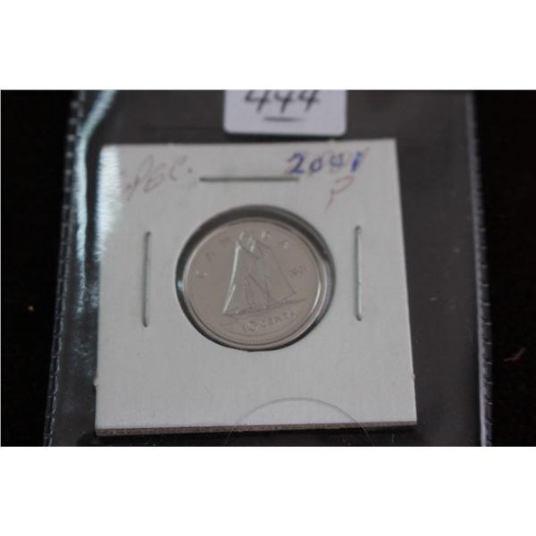 Canada Ten Cent Coin - 2001P, Specimen