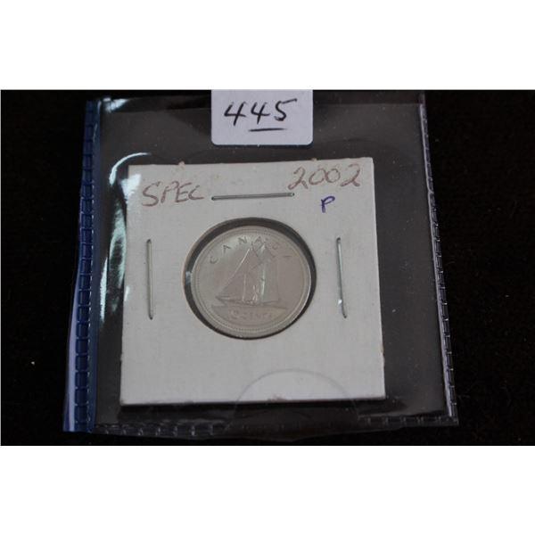 Canada Ten Cent Coin - 2002P, Specimen