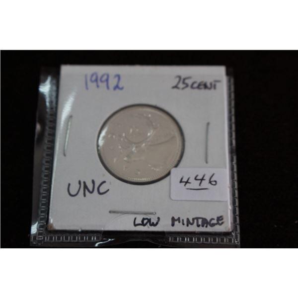 Canada Twenty-five Cent Coin - 1867 - 1992, Unc.