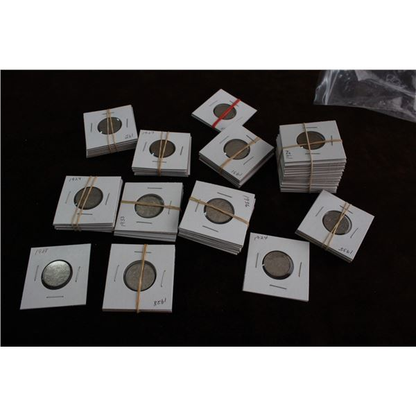 Canada Five Cent Coins (62) - Mixed Dates, George V