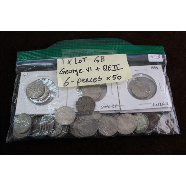 Great Britain Six Pence (50) - George VI and Queen Elizabeth II