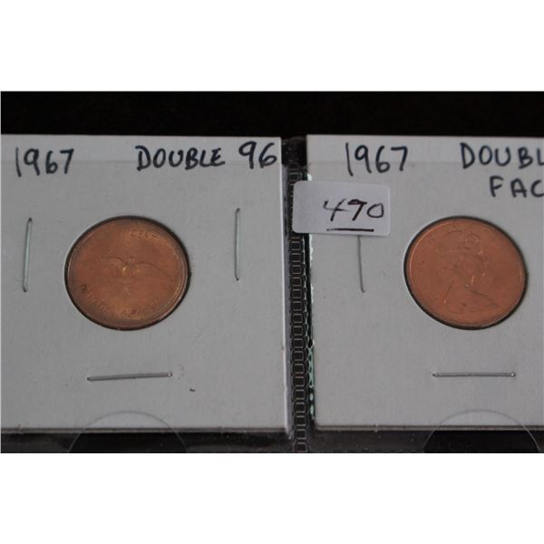 Canada One Cent Coins (2) - 1967