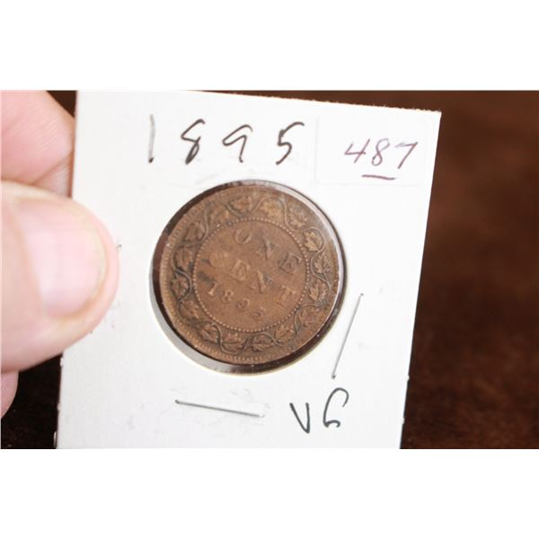 Canada One Cent Coin - 1895, VG
