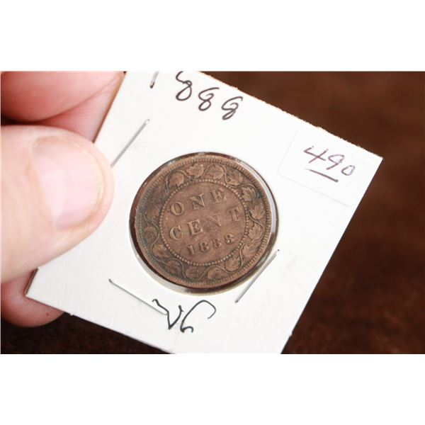 Canada One Cent Coin - 1888, VG