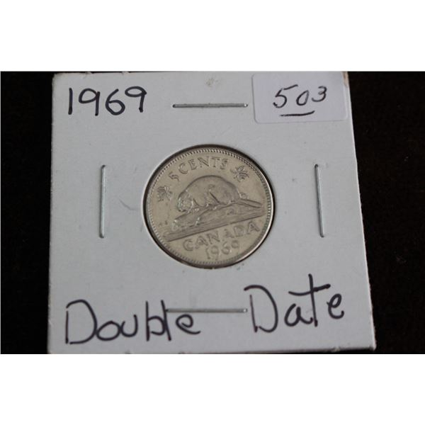Canada Five Cent Coin - 1969