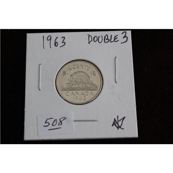 Canada Five Cent Coin - 1963