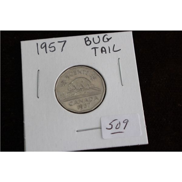 Canada Five Cent Coin - 1957