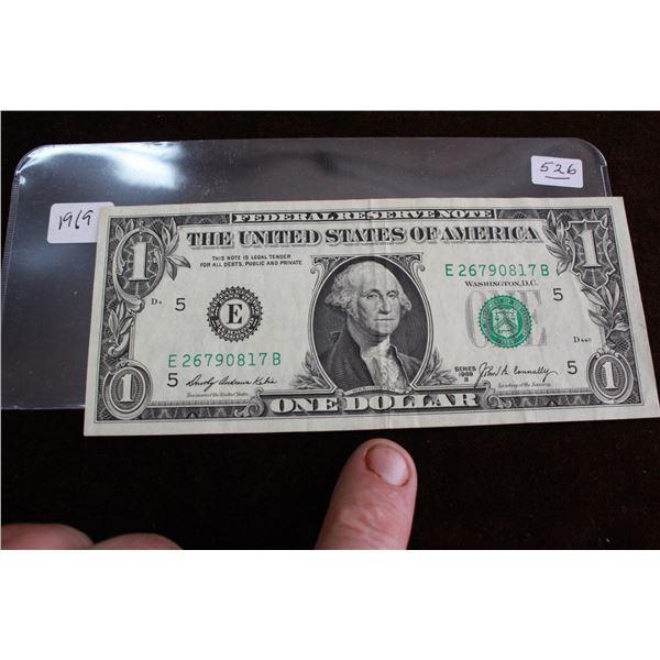 U.S.A. One Dollar Bill - 1969