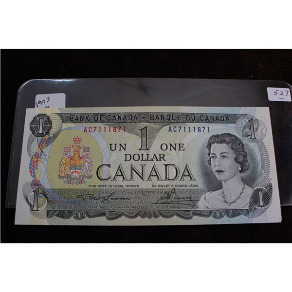 Canada One Dollar Bill - 1973, Choice Unc