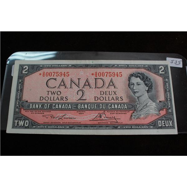 Canada Two Dollar Bill - 1954, Replacement