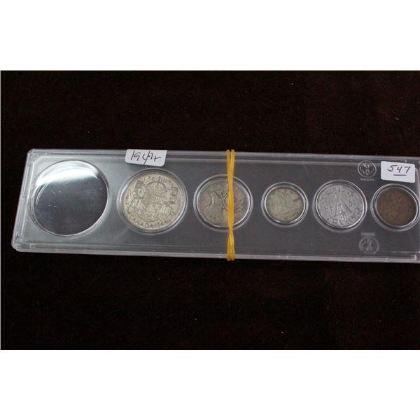 Canada Coin Set (partial) - 1944, Silver