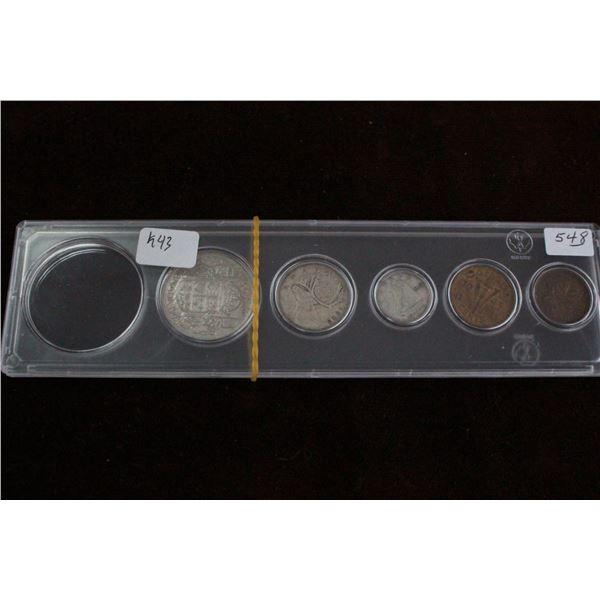 Canada Coin Set (partial) - 1943, Silver