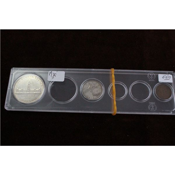 Canada Coin Set (partial) - 1939, Silver
