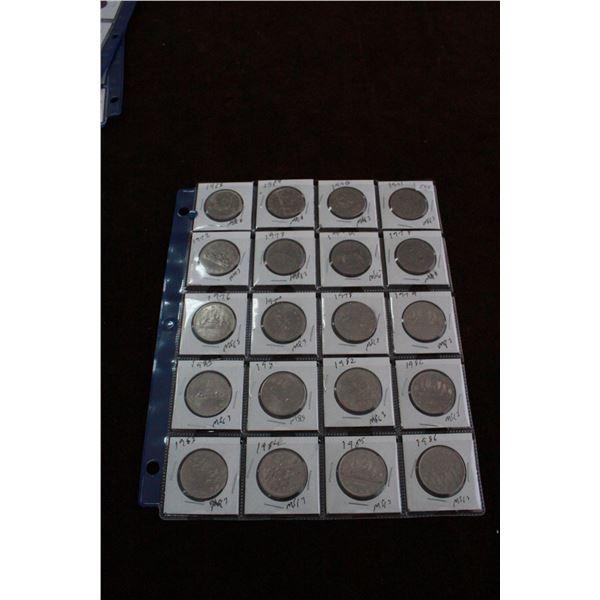 Canada One Dollar Coins (20) - 1968 - 1986 (2 - 1982)
