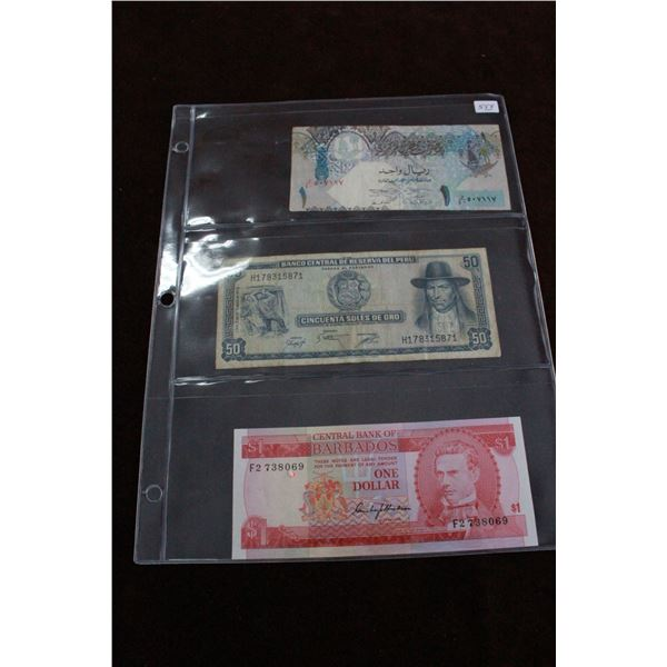 Foreign Notes (3)