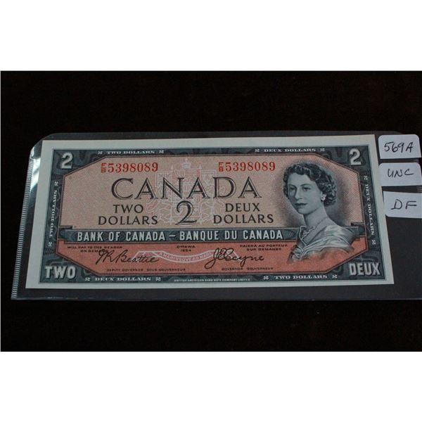 Canada Two Dollar Bill - 1954 Devil's Face