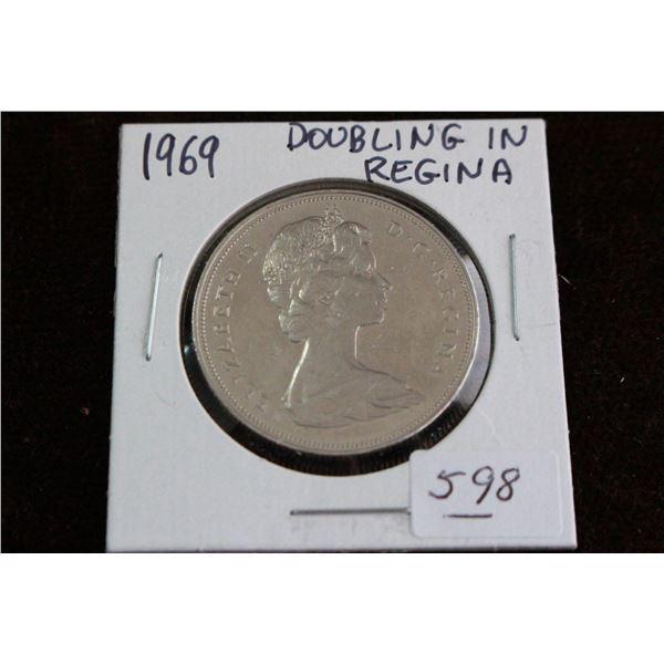 Canada One Dollar Coin - 1969, AU-55