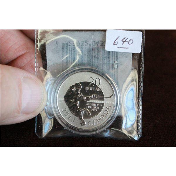 Canada Twenty Dollar Coin - 2013; .999 Silver *No GST