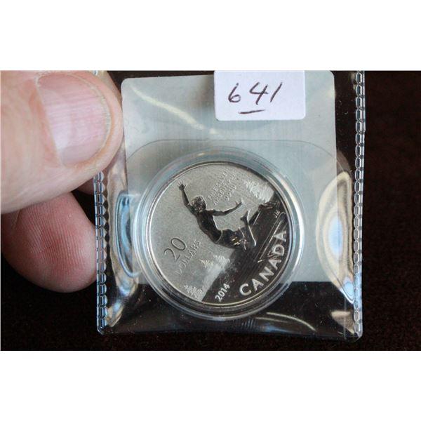 Canada Twenty Dollar Coin - 2014; .999 Silver *No GST