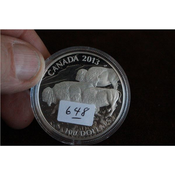 Canada One Hundred Dollar Coin - 2013, .999 Silver *No GST