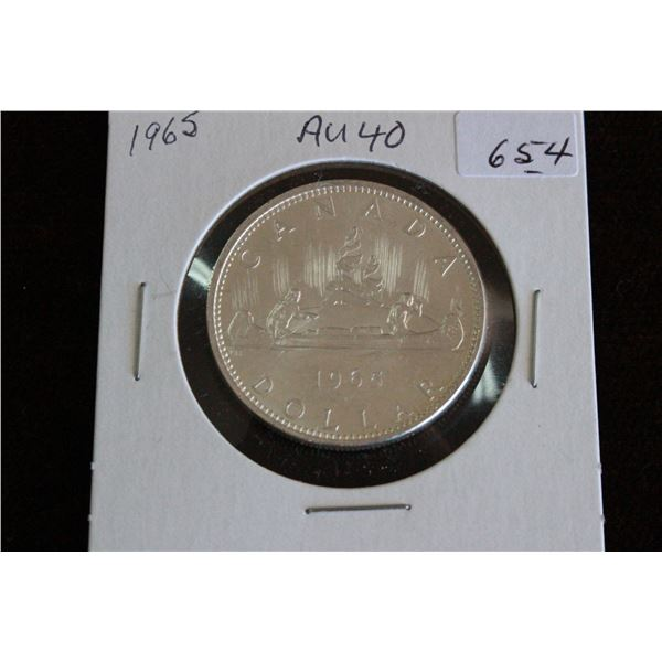 Canada One Dollar Coin - 1965, Silver