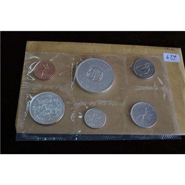 Canada Coin Set - 1964, Silver