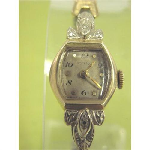 Wittnauer Watch Value >> Vintage 14k Gold Ladies Wittnauer Wrist Watch 1735721