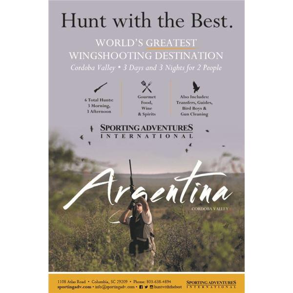 Cordoba Valley Dove Hunt for 2 Hunters