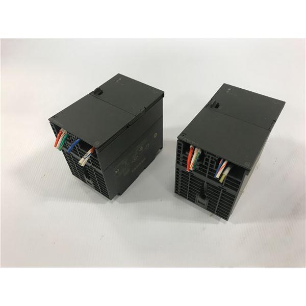 (2) SIEMENS 6ES7 307-1KA02-0AA0 POWER SUPPLY