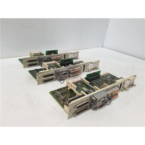 (3) SIEMENS 6SN1118-0NH01-0AA1 CONTROLLER MODULE CARD