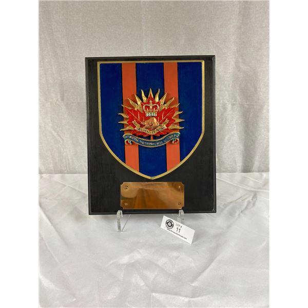 Royal Westminster Regiment Plaque