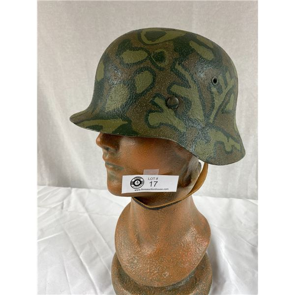 Size 7 1/4 german Camoflague Helmet with Liner and Chin Strap