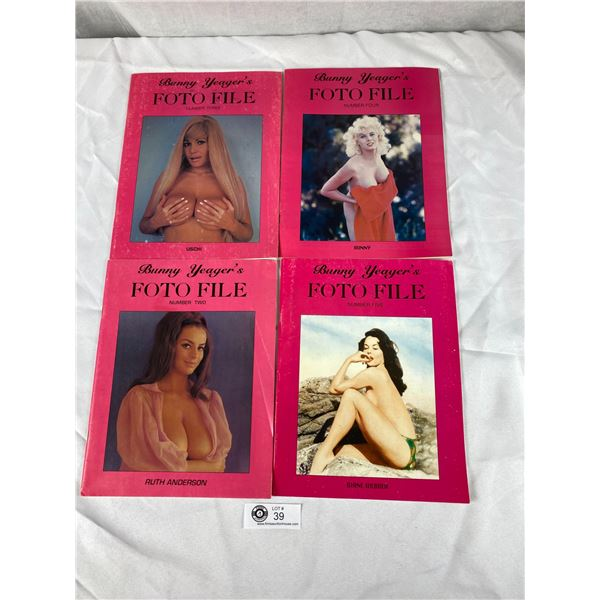 Lot of 4 Bunny Yeager's Photo File magazines riskue