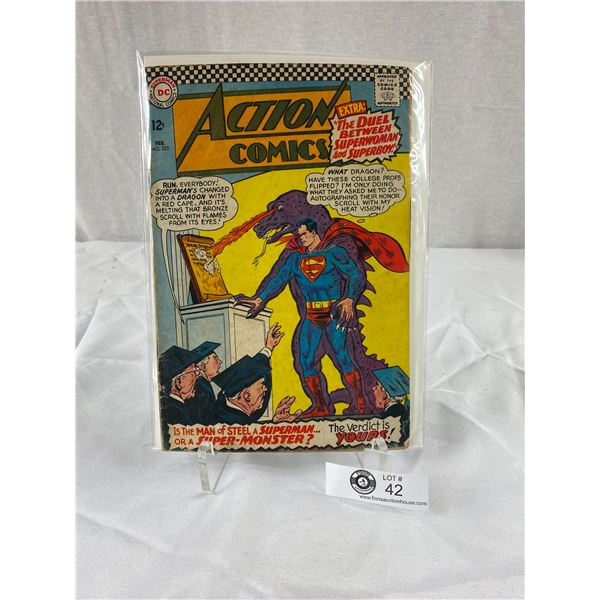 12 Cent DC Comic Action Comics #333 on Board in Bag