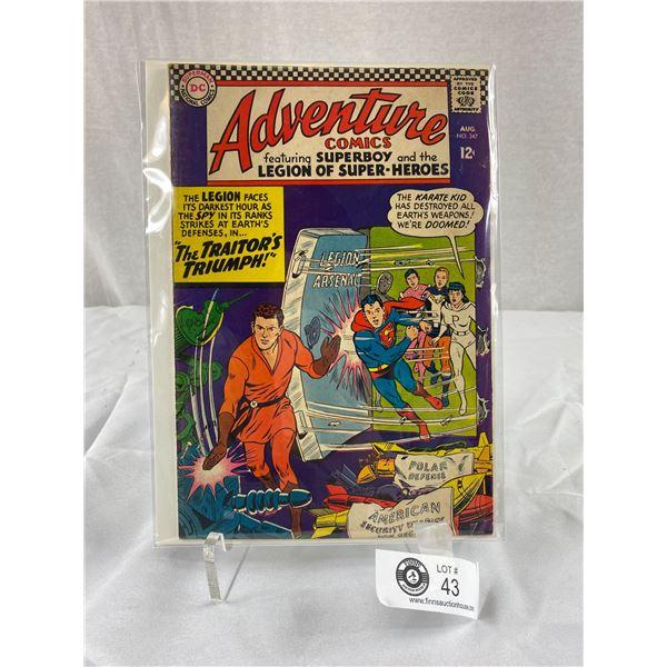 12 Cent DC Comics Adventure Comics #347 on Board in Bag