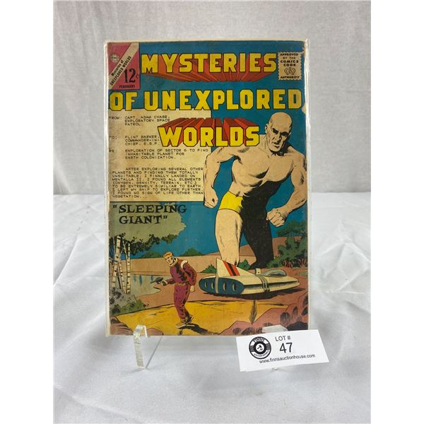 12 Cent Comic Mysteries of Unexplored Worlds Sleeping Giant on Board in Bag