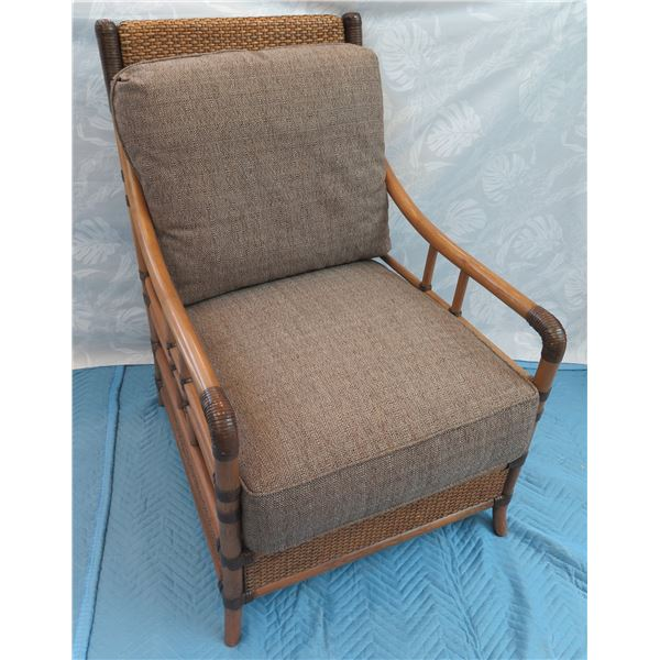 Tommy Bahama Rattan Armchair w/ Woven Accents 26 x20 x36  Back Ht.