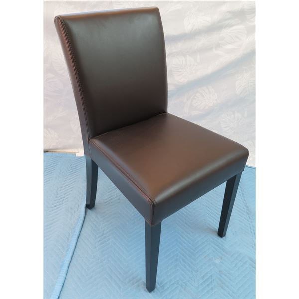 """Crate & Barrel Espresso Upholstered Chair 17""""x13""""x35"""" Back Ht."""