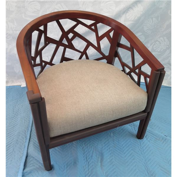 """Crate & Barrel Geometric Armchair 29""""x25""""x31"""" Back Ht. (protective rubber guards on front are remova"""