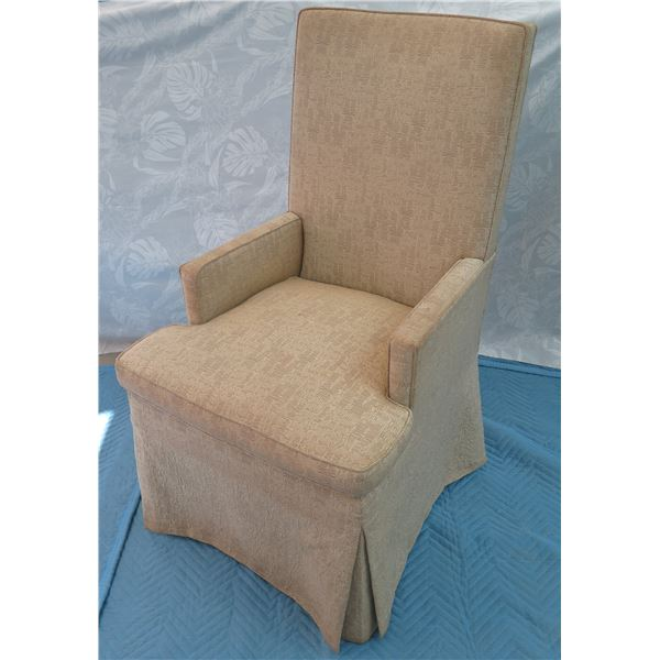 """Gregorius Pineo Tall Upholstered Armchair 23""""x21""""x42"""" Back Ht."""