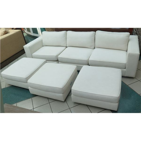 Restoration Hardware 6-Piece Modular Sofa Ensemble