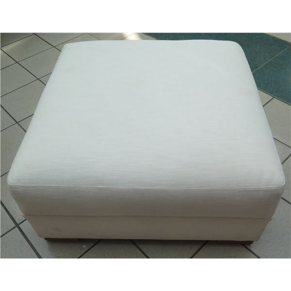 Restoration Hardware White Ottoman (or Large Modular Seat) 35 x35 x18  Ht.
