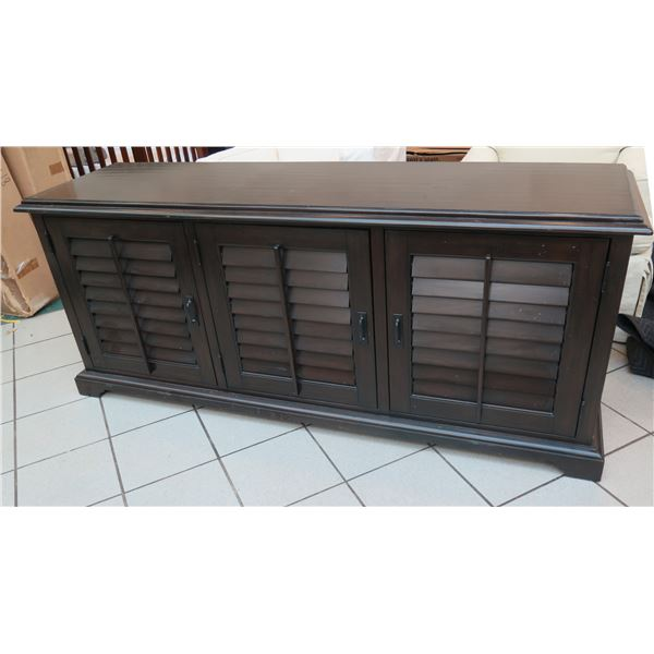 """Pottery Barn Sideboard Cabinet w/Louvered Doors & Interior Shelving 73""""x20""""x31""""H, General Surface We"""