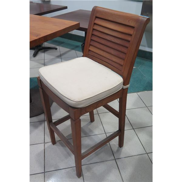 "Summer Classics Solid Wood Bar-Ht Chair w/ Slatted Back 18""x18""x45"" H"