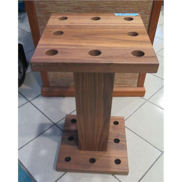 "Wooden Billiards/Pool Stick Rack 15""x15""x27"" H"