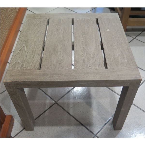 """Distressed Wooden Low Side Table 20""""x20""""x16"""" H"""